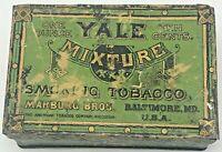 Vintage Yale Mixture Smoking Tobacco Tin Marburg Bros Baltimore MD USA