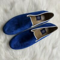 Res Ipsa Mens Smoking Loafers 9 Royal Blue Suede