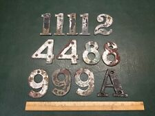 "Lot of 13 Vintage Bronze Brass House Numbers & Letter ""A"" ~ 3"" Tall"