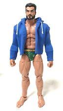 NOX-ST-L-SB: FIGLot Fabric Hoodie for Mezco One:12 Mattel WWE Figure - Blue