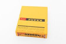 Vintage Sealed 100 Sheet Box of 4x5in. Kodak Velox F-3 Darkroom Paper- Expired