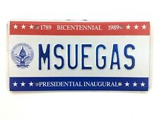 Washington DC 1989 Single Old License Plate Garage Vtg Inaugural Vanity SUE GAS