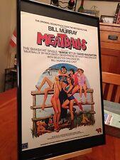 "2 BIG 11X17 FRAMED ORIGINAL BILL MURRAY ""MEATBALLS"" MOVIE LP CD PROMO ADS"