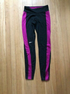 Under Armour Cold Gear Leggings black and pink very good condition