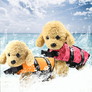 1.5~15kg Small Pet Dog/Cat Life Jacket Red/Orange/Yellow/Green Bone Pattern