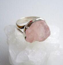 Ring mit rohem Morganit - 925er Silber - roh - Gr. 18,1 - Beryll - Rosa