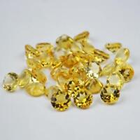 Wholesale Lot 3x3mm -10x10mm Round Faceted Cut- Natural CITRINE Loose Gemstones