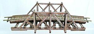 SMALL WOODEN THROUGH TRUSS BRIDGE-HO SCALE