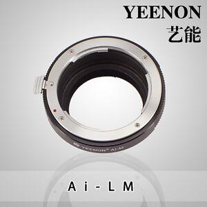 YEENON Nikon AI Mount  to Leica M Mount Adapter (No rangefinder coupled )