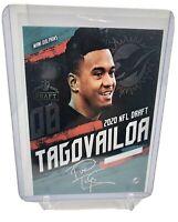 Tua Tagovailoa 2020 NFL Draft Rookie Signature Style Miami Dolphins Card