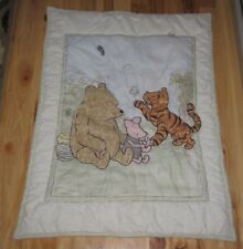 WINNIE THE POOH BABY QUILT COMFORTER BLANKET PIGLET TIGGER BUTTERFLY NURSERY