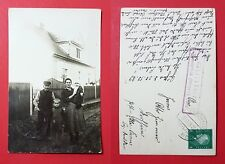 Foto AK GUHLEN bei Gassen Sorau 1929 Typen Bewohner vor Wohnhaus   ( 28441