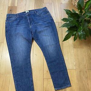 White stuff Size 20 boyfriend fit casual star print jeans everyday wear comfort