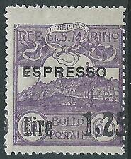 1926 SAN MARINO ESPRESSO SOPRASTAMPATO 1,25 LIRE SU 60 CENT VARIETà MNH ** - X23