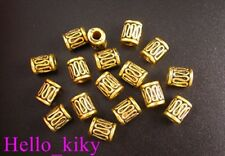 70Pcs Antiqued gold plt wire curved tube bead A48