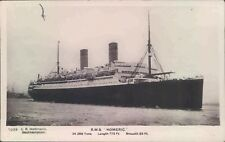 Postcard Shipping Ocean liners RMS Homeric White Star Line RP unposted