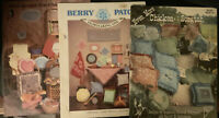 Lot Of 3 Chicken Scratch Embroidery Instruction/pattern Booklets