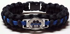 Thin Blue Line K9 Unit TBL Police Dog Police Officer Handmade Paracord Bracelet