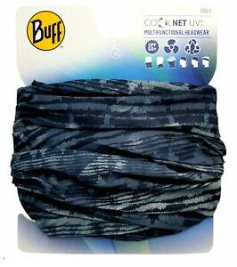 BUFF CoolNet UV+ Multifunctional Headwear UPF 50+ Unisex Face Mask Bandana Blue