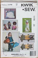 Kwik Sew Sewing Pattern Sleeping Bag Pillow Doll Clothes Towel 1179 Kids UNCUT