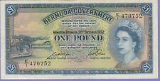 Bermuda 1 Pound Banknote 20.10.1952 Extra Fine Condition Cat#20-A-0752