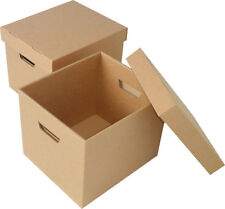 Cardboard Storage Boxes with Base + Lid 405 x 318 x 254mm 10 / pack