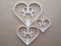 Heart Paw Pet Love Print Shape Cookie Cutter Dough Biscuit Pastry Fondant Sharp