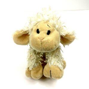 Ganz Webkinz Plush Lamb Sheep White Tan Shaggy Stuffed Animal Plush Toy