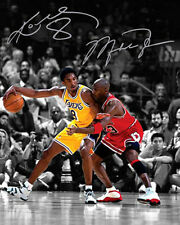 Michael Jordan Kobe Bryant Chicago Bulls Lakers Signed Photo Autograph Reprint