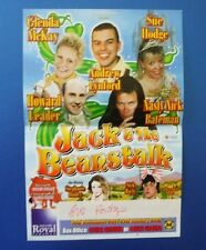 THEATRE FLYER JACK AND THE BEANSTALK SIGNED BY SUE HODGE [ HILLS ANGELS ]