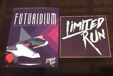 Futuridium Extended Play Deluxe Limited Run Games Post Card + Sticker - Rare