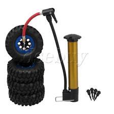 "4Pcs RC 1/10 Crawler 1.9"" Beadlock Black Wheel Rims & Rubber Tires Sets"