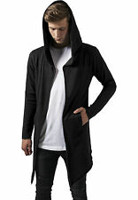 Maglione Cardigan Urban Classics – Long Hooded Open Edge Cardigan Grigio Tb1389 S (small)