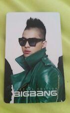 Big bang Special Edition taeyang official photocard kpop k-pop