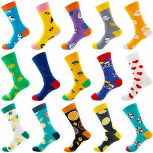 Men Unisex Combed Cotton Socks Funny Animal Fruit Casual Fashion Breathable Sock