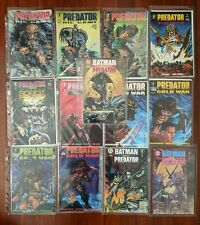 PREDATOR COMICS lot of (13) w/ Binder - Big Game, Batman versus - Dark Horse