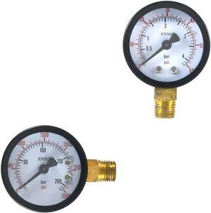 High and Low Pressure CO2 Gauges for Beer/Soda Keg System Regulators (PAIR)