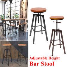 Industrial Adjustable Rustic Vintage Metal Breakfast Bar Stool Counted Chair AU