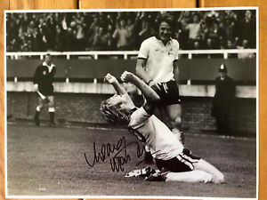 Rodney Marsh Fulham Hand Signed 16x12 Photo. See Him Signing - Exact PROOF.