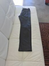 Dolce and Gabbana Men's leather pants. Dark brown. Size 48