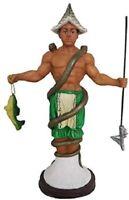 """12"""" Inle Statue Orisha Santeria Lucumi African God Figure Figurine"""