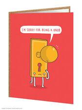 """BrainBox Candy Gracioso humorístico """"lo siento por ser una perilla 'Cheeky Tarjeta de felicitación"""