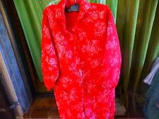 rouge,unixexe ,salopette rouge ,t 44-46,,rigolotte !! jardinage ,lok...bricolage