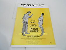 1964 vintage NOS sheet music PASS ME BY - FATHER GOOSE - CARY GRANT
