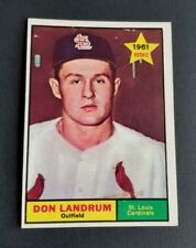 ORIGINAL1961 TOPPS ST. LOUIS CARDINALS BASEBALL CARD #338 DON LANDRUM NR.MINT