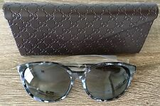 Gucci Sunglasses | Black Marble | Logo Temple | Made in Italy | NIB