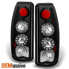 Fit 88-00 C/K C10 GMC Sierra Yukon Pickup Truck LED Black Tail Light Brake Lamps