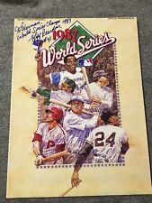 1987 WORLD SERIES PROGRAM Minnesota Twins Autographed By Jeff Reardon