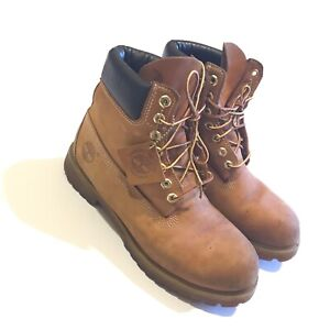 Timberland 6 Inch Premium Waterproof Boots Wheat Men's Shoes 8.5