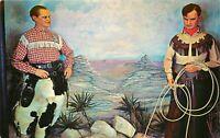 Old Chrome Postcard Arizona I010 Wax Figures Bob Hope Will Rogers Scottsdale